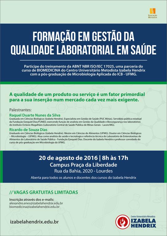 Formação em Gestão da Qualidade Laboratorial em Saúde