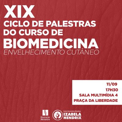 Biomedicina discute envelhecimento cutâneo no Ciclo de Palestras
