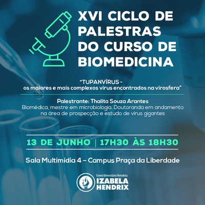 Ciclo de Palestras de Biomedicina debate mercado de trabalho e área de pesquisa