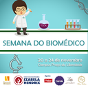 Izabela Hendrix promove Semana do Biomédico