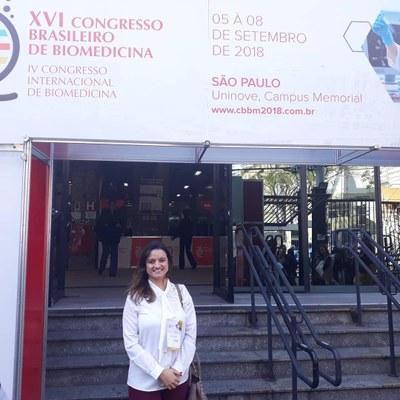 Professora do Izabela Hendrix participa de Congresso Nacional e Internacional de Biomedicina