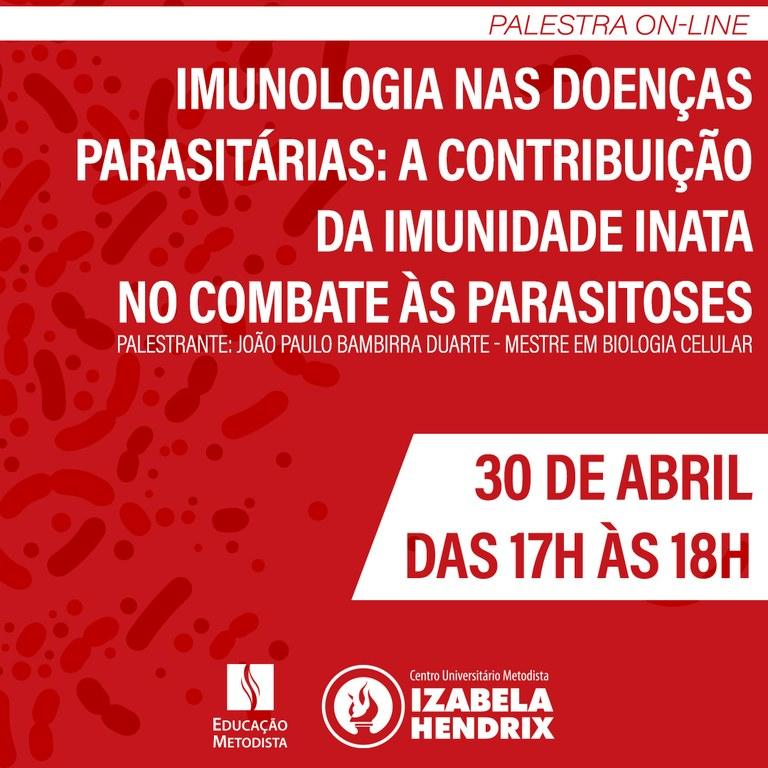 Curso De Biomedicina Promove Palestra On Line
