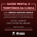 Curso de Psicologia promove palestra sobre saúde mental e territórios da clínica