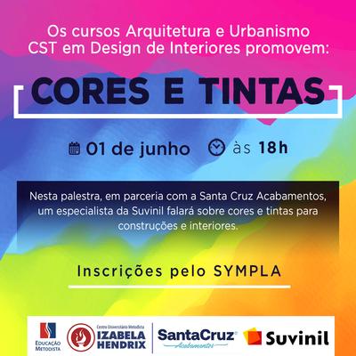 Cursos de Arquitetura e Urbanismo e Design de Interiores promovem palestra sobre cores e tintas