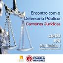 Ciclo de palestras do curso de Direito fala sobre carreiras jurídicas