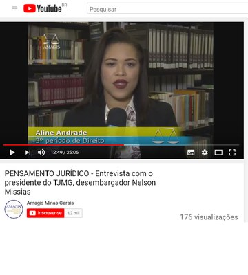 Estudantes do Izabela Hendrix participam de gravação do programa Pensamento Jurídico