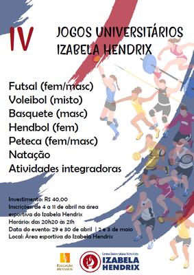 Curso de Educação Física do Izabela Hendrix realiza Jogos Universitários