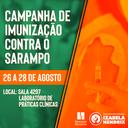 Izabela Hendrix realiza campanha de imunização contra o sarampo