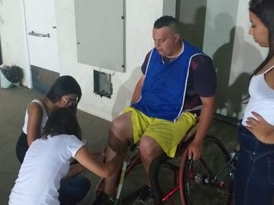 Fisioterapia realiza ação com atletas portadores de deficiência
