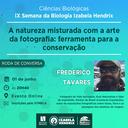 Fotógrafo de vida selvagem realiza palestra na Semana de Biologia