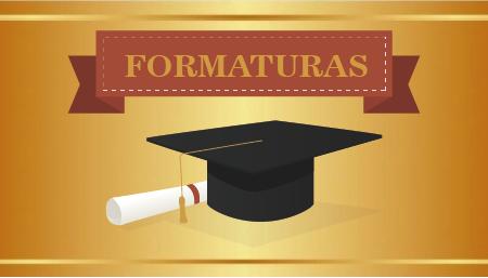 Confira fotos da colação de grau dos formandos do 2º semestre de 2018