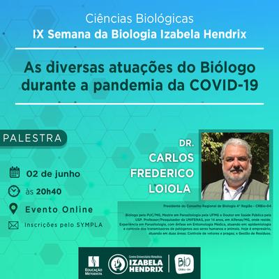 IX Semana recebe presidente do Conselho Regional de Biologia