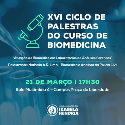 Atuação do biomédico forense é tema de ciclo de palestras de Biomedicina