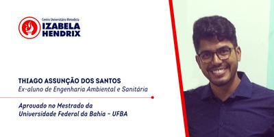 Ex-aluno do Izabela conquista vaga em Mestrado na Federal da Bahia