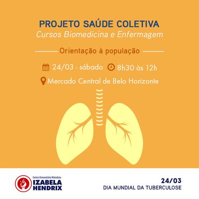 Projeto Saúde Coletiva conscientiza população sobre tuberculose no Mercado Central