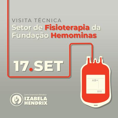 Alunos fazem visita técnica a Setor de Fisioterapia da Fundação Hemominas