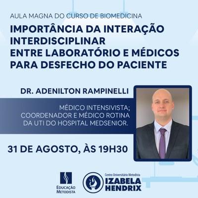 Aula magna de Biomedicina debate a importância da interação interdisciplinar