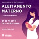 Aula magna de enfermagem com Marina Martins