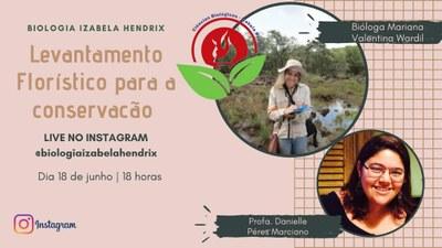 Curso de Biologia promove palestra on-line sobre a importância do levantamento florístico para a conservação