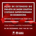 """Curso de Biomedicina oferece palestra """"Métodos Diagnósticos para ISTs"""""""