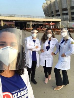 Curso de Biomedicina participa de ação no Estádio Mineirão