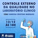 """Curso de Biomedicina promove palestra """"Controle Externo da Qualidade no Laboratório Clínico"""""""