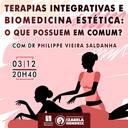 """Curso de Biomedicina promove palestra """"Terapias Integrativas e Biomedicina Estética: o que possuem em comum?"""""""