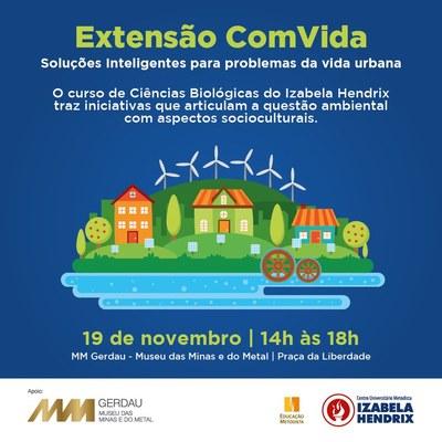 Curso de Ciências Biológicas promove evento Extensão ComVida no Museu das Minas e do Metal