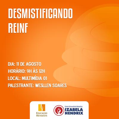 """Cursos do Izabela promovem evento """"Desmistificando o Reinf"""""""
