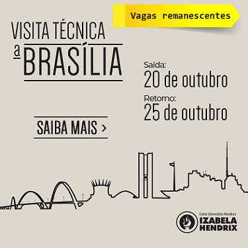Direito e Arquitetura e Urbanismo ofertam vagas remanescentes para visita técnica a Brasília