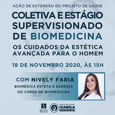 """Estágio Supervisionado de Biomedicina e Projeto de Extensão em Saúde Coletiva promovem palestra para falar sobre """"Os cuidados da estética avançada para o homem"""""""