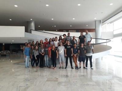 Estudantes de Direito e Arquitetura e Urbanismo do Izabela Hendrix realizam visita a Brasília