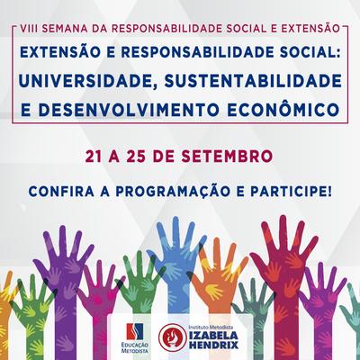 Eventos on line dão destaque à VIII Semana da Responsabilidade Social e Extensão