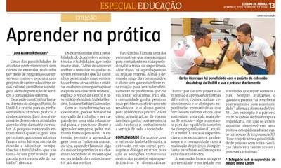 Extensão Universitária do Izabela Hendrix é destaque no Jornal Estado de Minas