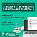 Inscrições abertas para o Programa Institucional de Revisão de Componentes Curriculares Essenciais