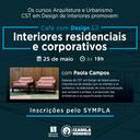 """""""Interiores residenciais e corporativos"""" é tema de segunda palestra do """"Café com design"""""""