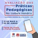 Izabela Hendrix convida alunos e docentes a participarem da Avaliação das Práticas Pedagógicas 2021