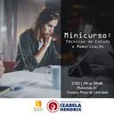 Izabela Hendrix oferece minicurso de Técnica de Estudo e Memorização