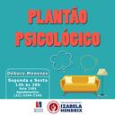 Izabela Hendrix oferece plantão psicológico