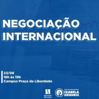 Izabela Hendrix promove palestra sobre Negociação Internacional