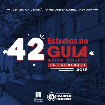 Izabela Hendrix recebe 42 estrelas no novo Guia da Faculdade Estadão