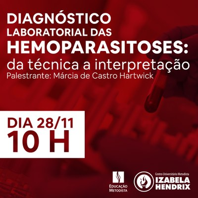 """Palestra da Biomedicina aborda """"Diagnóstico laboratorial das Hemoparasitoses: da técnica a interpretação"""""""
