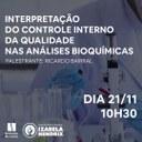 """Palestra da Biomedicina aborda """"Interpretação do controle interno da qualidade nas análises bioquímicas"""""""