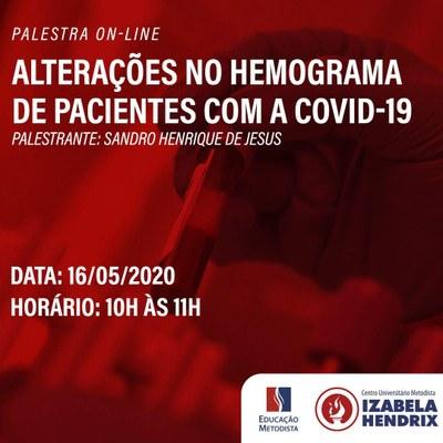 """Palestra on-line"""" Alterações no hemograma de pacientes com a covid-19"""""""