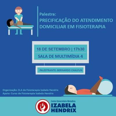 Precificação do atendimento domiciliar é tema de palestra do Curso de Fisioterapia