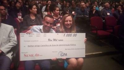 Professor do Izabela recebe prêmios no Seminário SemeaAd neste ano