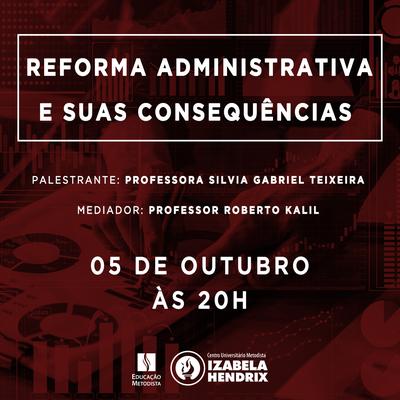 Reforma administrativa é o tema de palestra do curso de Direito