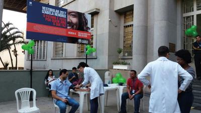 Projeto de extensão Saúde Coletiva realiza atividade em menção ao Dia Nacional da Saúde