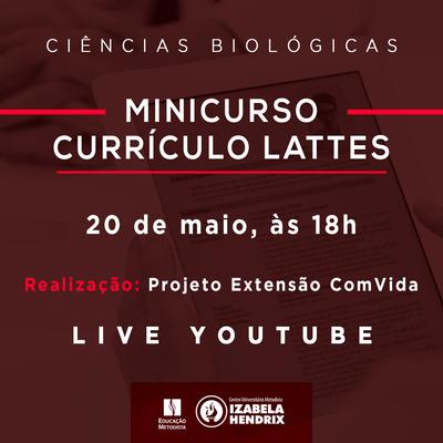 Projeto Extensão ComVida realiza minicurso para criação de currículo lattes