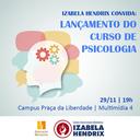 Izabela lança curso de Psicologia no primeiro semestre de 2019